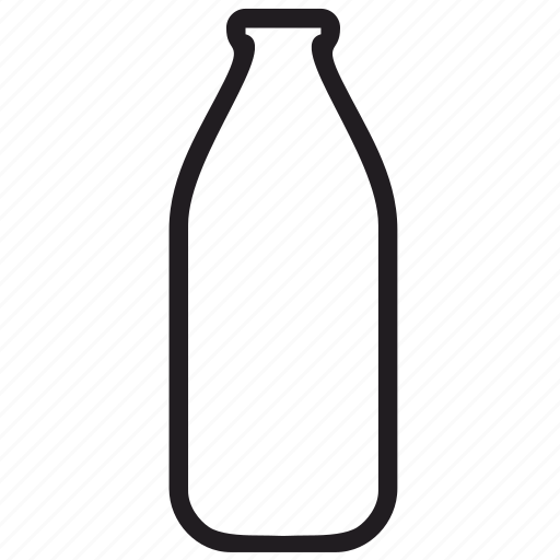 bottle, conture, milk icon