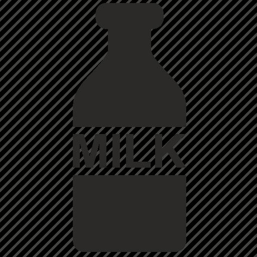 bottle, label, milk icon