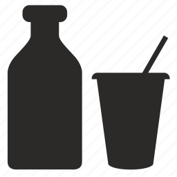 drink, milk icon