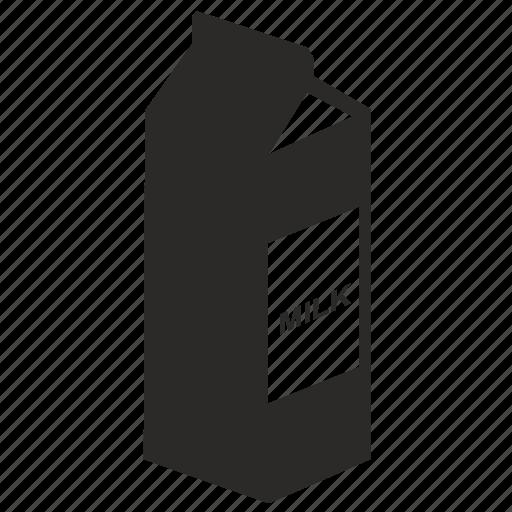 label, milk, pocket icon