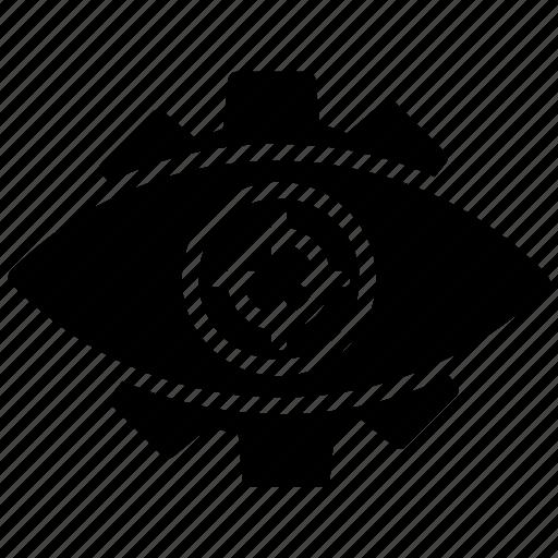 cyber eye, cyber monitoring, cyber security, cybernetics, mechanical eye icon