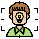 attention, concentrate, focus, frame, recognition icon