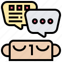 chat, consider, dialog, inner, thinking icon