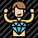 businessman, diamond, mind, perfection, successful