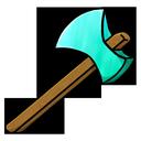 diamond, axe icon