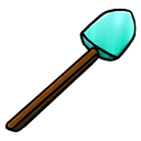 diamond, shovel icon