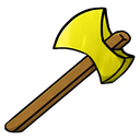 gold, axe