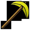 pickaxe, gold icon