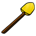 gold, shovel icon