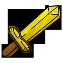 gold, sword