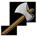 iron, axe