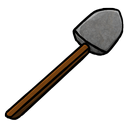 shovel, stone icon