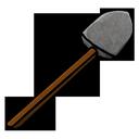 stone, shovel