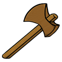 axe, wooden icon