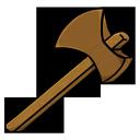 wooden, axe icon