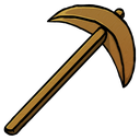 pickaxe, wooden icon