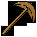 wooden, pickaxe icon