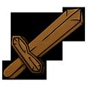 wooden, sword