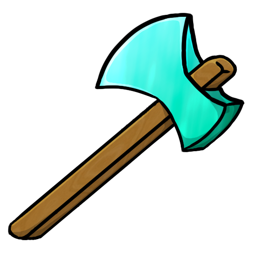 axe, diamond icon