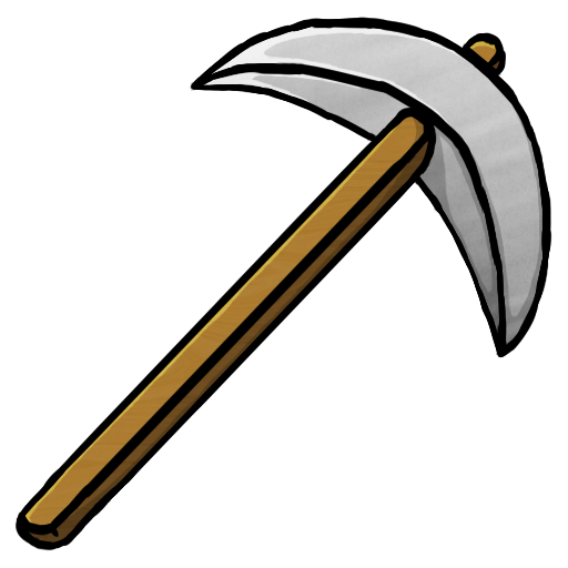 iron, pickaxe icon