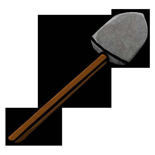 shovel, stone icon
