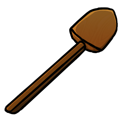 shovel, wooden icon