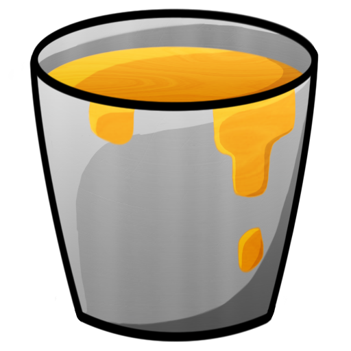 bucket, lava icon