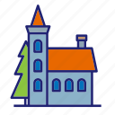 building, castle, manor, palace, fortress, tower, house