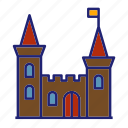 building, castle, manor, palace, fortress, tower, architecture
