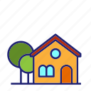 building, house, tower, mountain, home, apartment, property