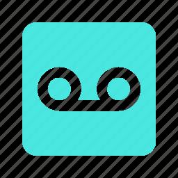 audio, cassette, chat, message, mini, mobile, music, phone, rec, record, sound, talk, tape, voice icon