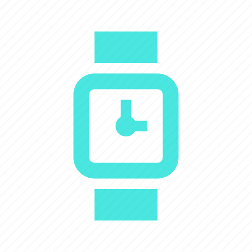 alarm, clock, compatible, history, logo, media, mini, social, social media, square, time, timer, wait, watch, wearable icon