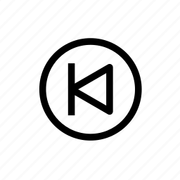 arrow, audio, back, first, left arrow, previous icon