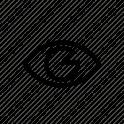 design, eye, seen, view, viewed, views, web icon