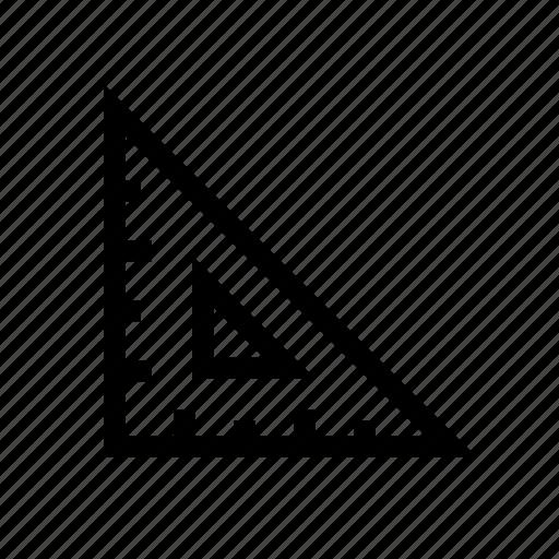angle, design, maths, ruler, ruler triangle, set square, triangle icon