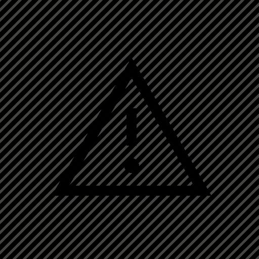 alert, caution, design, reminder, triangle, warning, web icon