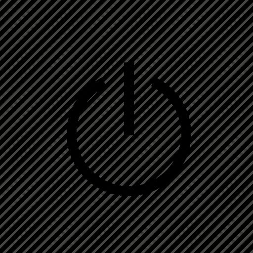 design, off, power, shut down, start, turn off, web icon