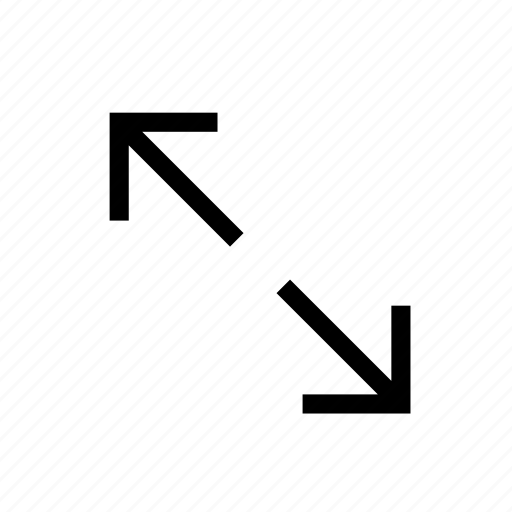 arrow, enlarge, expand, outside, size, web, zoom in icon