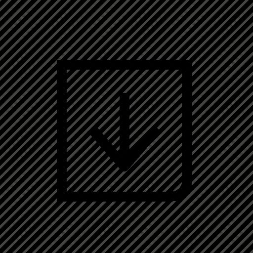 arrow, design, down, move, next, point, web icon