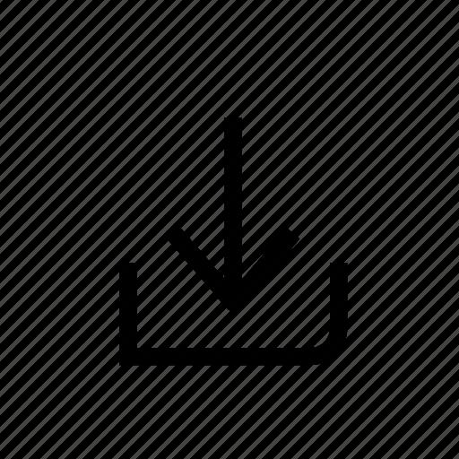 arrow, design, down, download, move, point, web icon