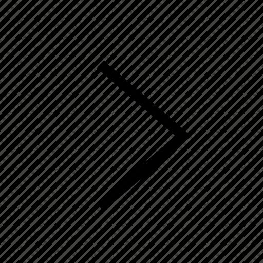 arrow, design, direction, forward, next, right, web icon