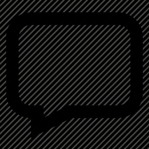 bubble, chat, comment, left, message icon