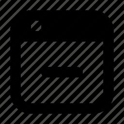 browser, delete, minus, page, remove, window icon