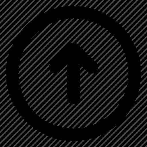 arrow, circle, direction, previous, up icon