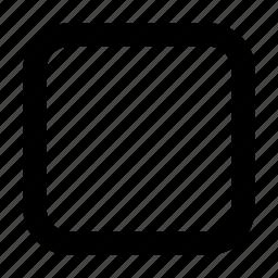 menu, page, panel, square, window icon