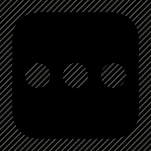 continue, dots, loading, more icon