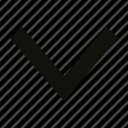 big, chevron icon
