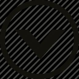 big, chevron, circle icon