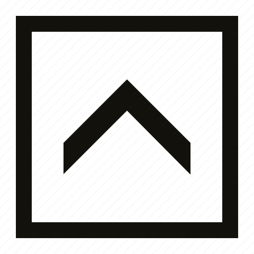 big, chevron, square icon