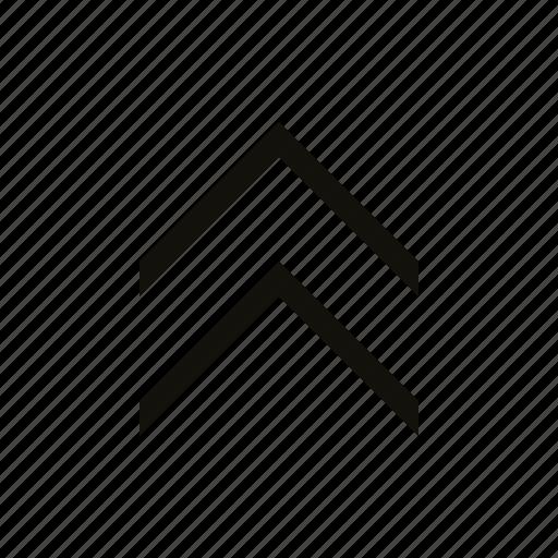 chevron, double icon